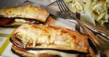 Berenjenas al horno con salsa de nueces