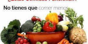 Importante controlar las calorias y los nutrientes